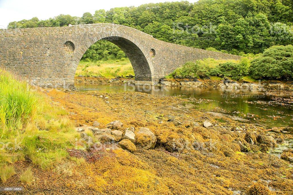 ' Bridge over the Atlantic', Isle of Seil, Scotland stock photo