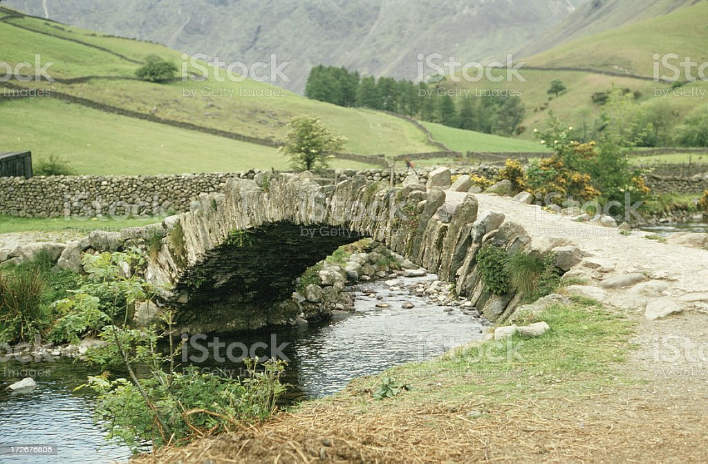 Bridge over the Beck stock photo