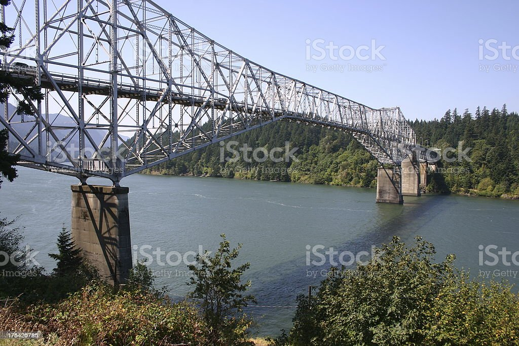 Bridge over the Columbia River royalty-free stock photo