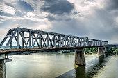 Bridge Over The Danube River - HDR Image