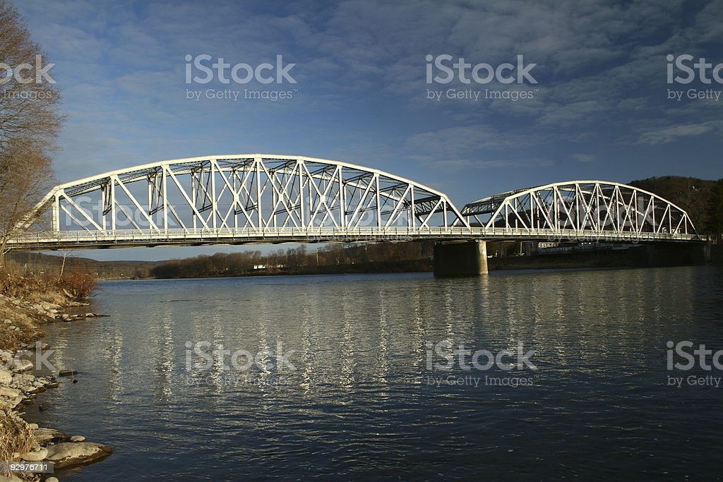 Bridge over the Delaware River royalty-free stock photo