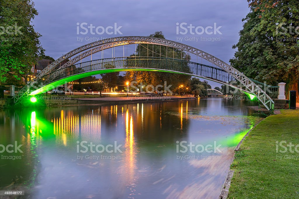 Bridge over the Great Ouse in Bedford stock photo
