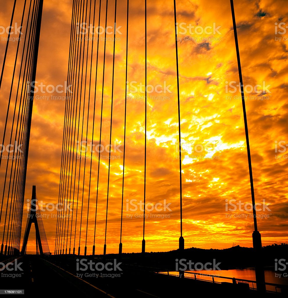 Bridge over the Guadiana River royalty-free stock photo
