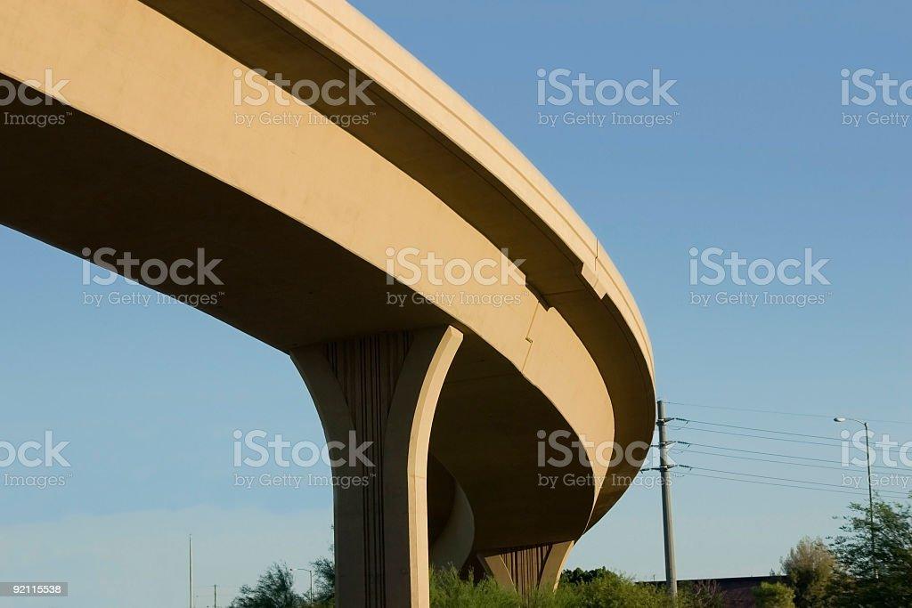 Bridge over the Highway stock photo