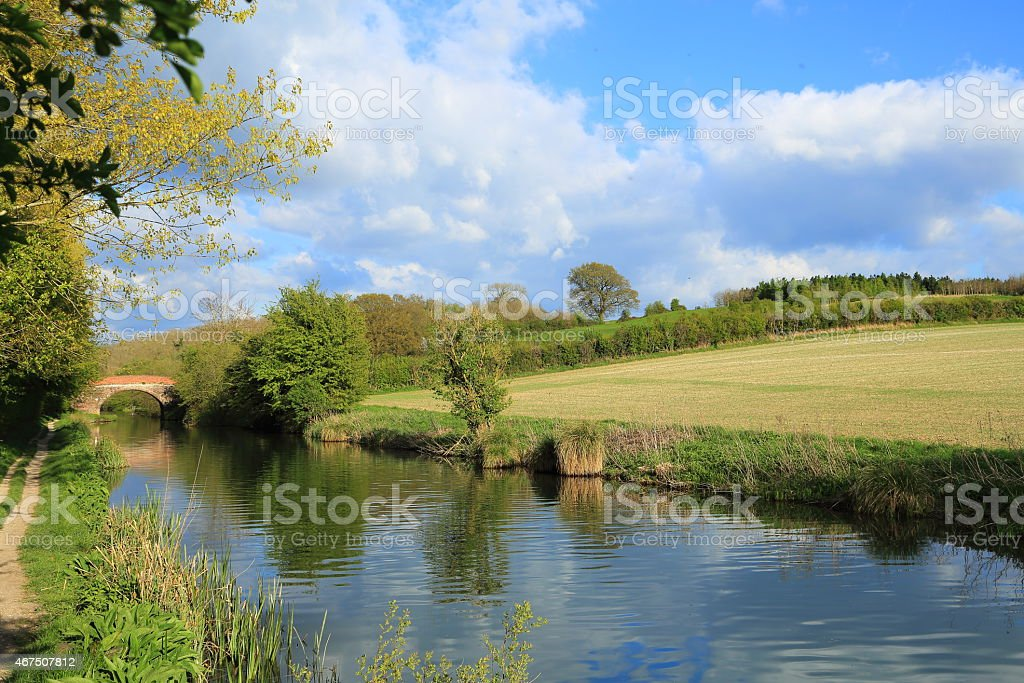 Bridge over the Kennet and Avon Canal in southern England stock photo