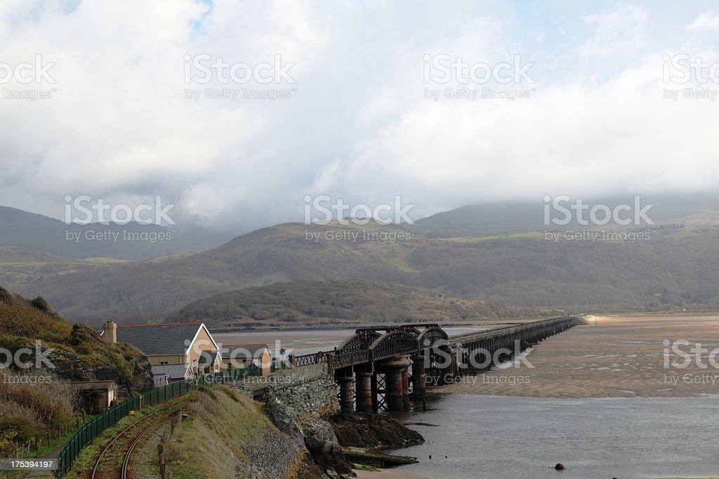 Bridge over the Mawddach stock photo