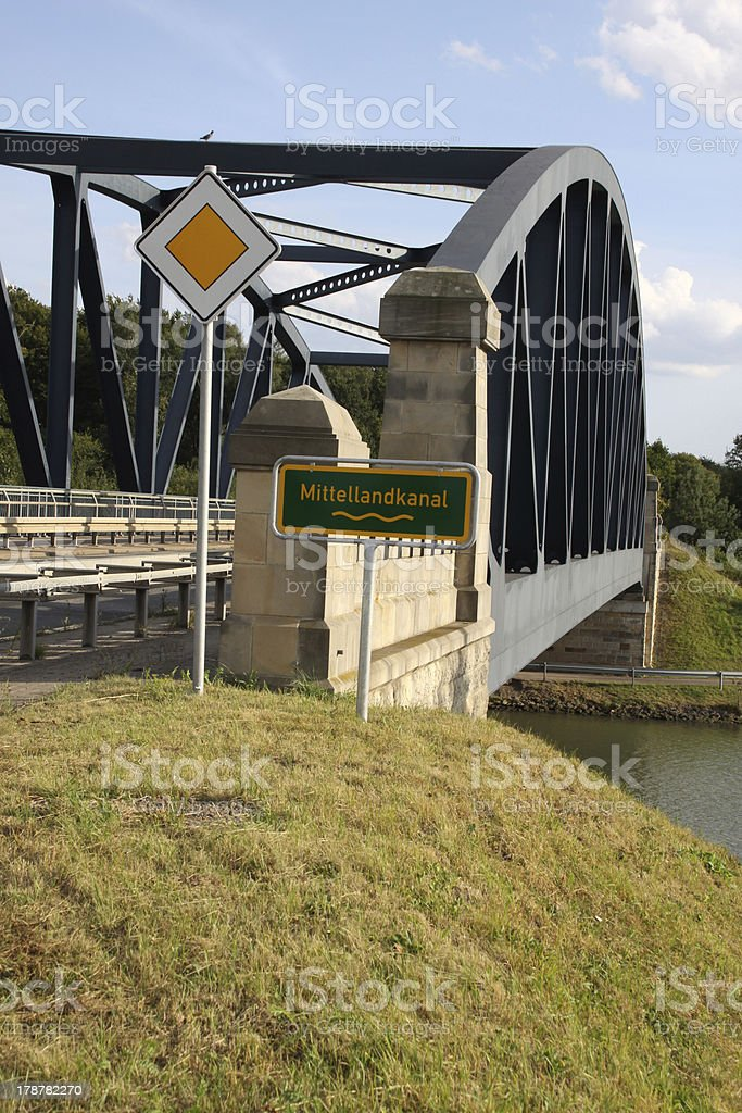 Bridge over the Mittelland Canal at Sachsenhagen royalty-free stock photo
