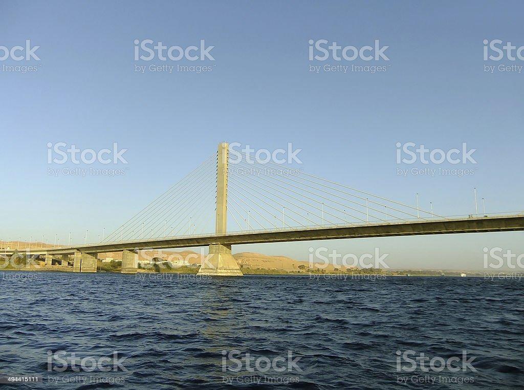 Bridge over the Nile river royalty-free stock photo