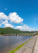 Bridge over the river Afon Mawddach at Penmaenpool