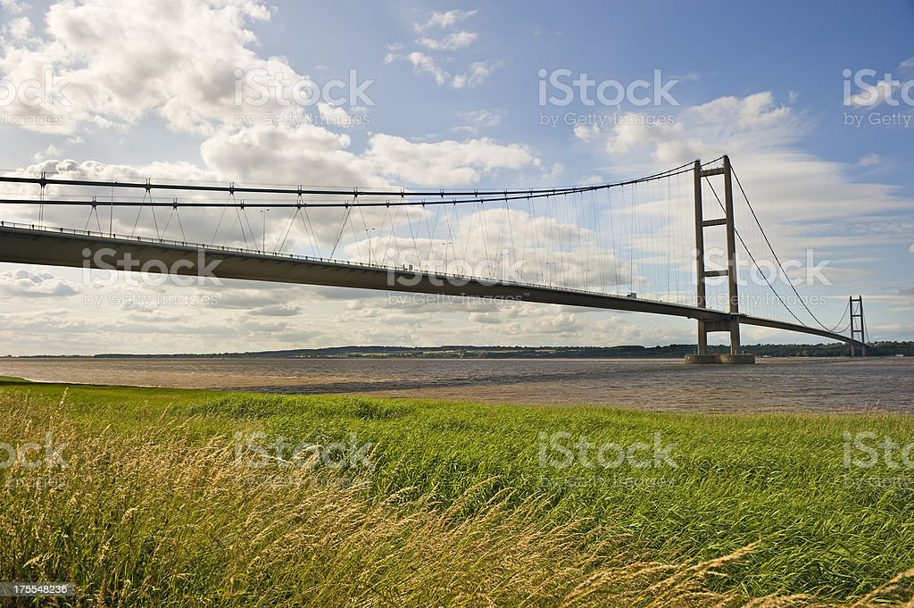 Bridge over the River Humber stock photo