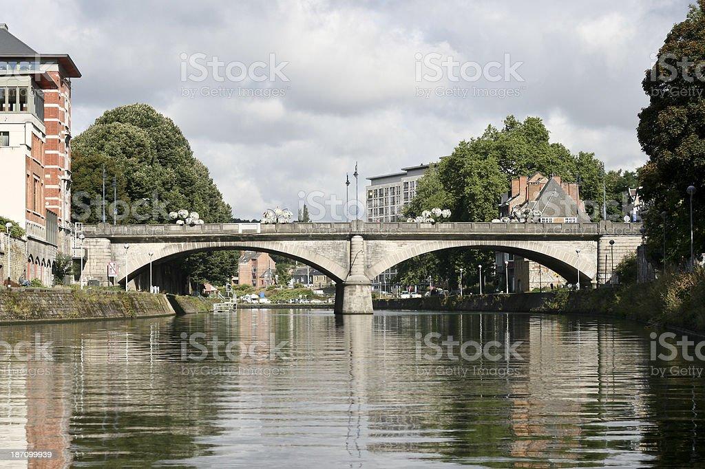 Bridge over the River Meuse Namur Wallonia Belgium stock photo