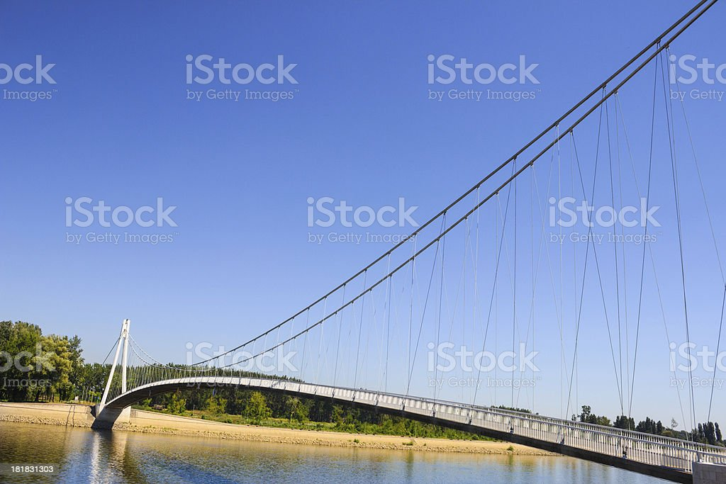 bridge over the river. stock photo