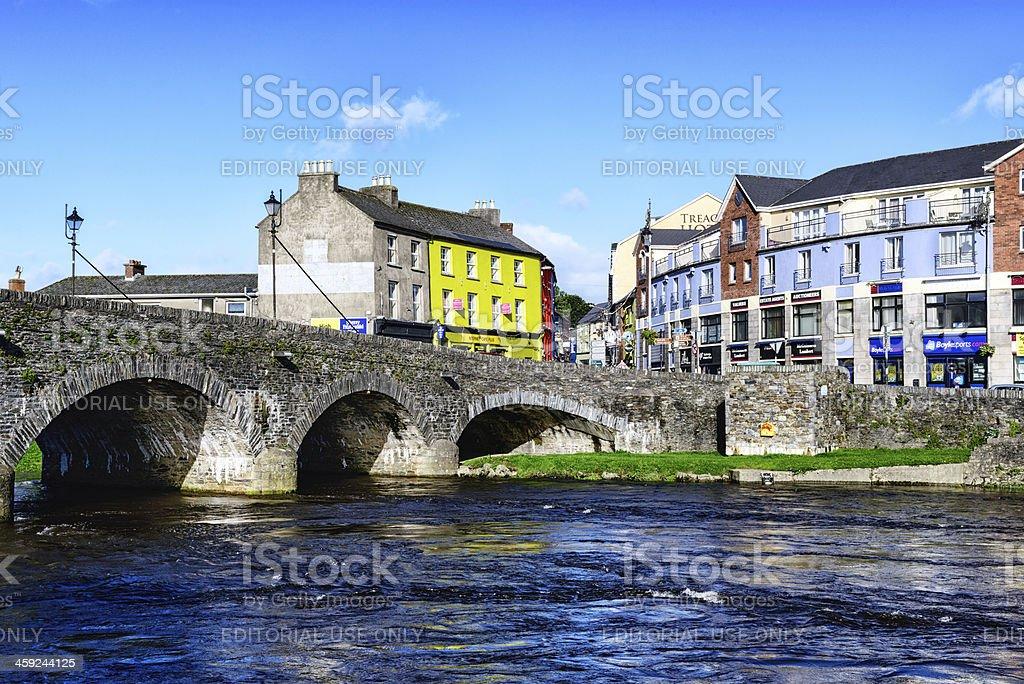 Bridge over the River Slaney at Enniscorthy, Ireland royalty-free stock photo