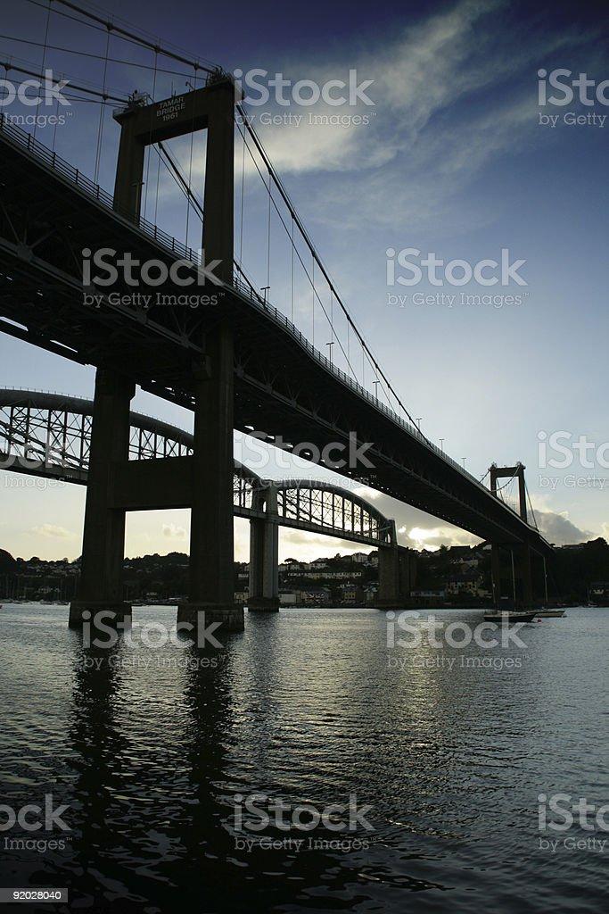Bridge over the River Tamar royalty-free stock photo