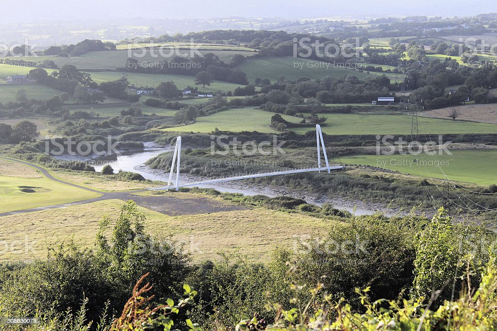 Bridge over the River Usk stock photo