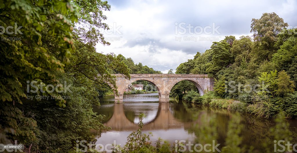 Bridge over the River Wear stock photo