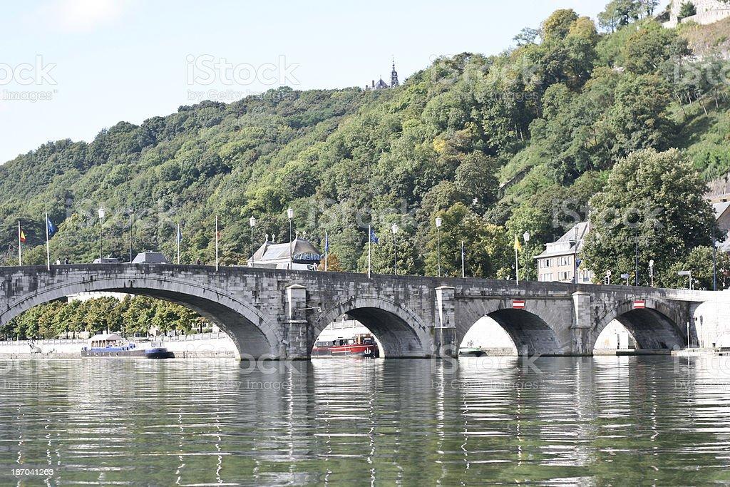 Bridge over the Sambre River in Namur Wallonia Belgium stock photo