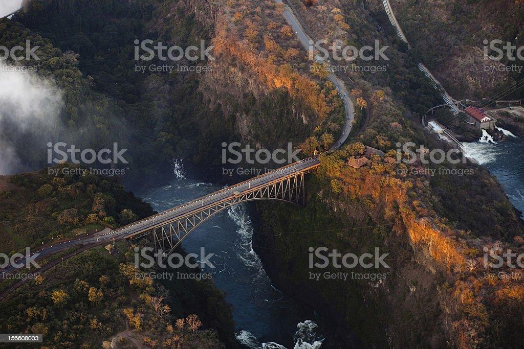 Bridge over the Zambezi River Gorge royalty-free stock photo