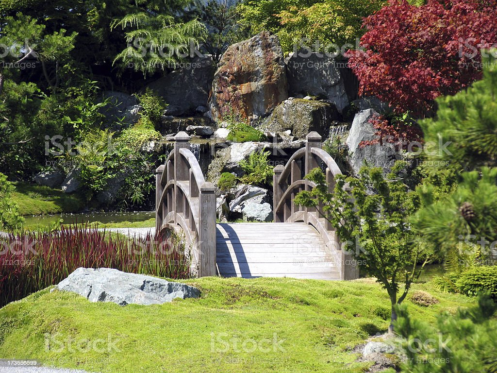 Bridge Over Tranquil Waters royalty-free stock photo