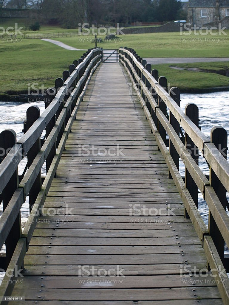 Bridge over troubled water royalty-free stock photo