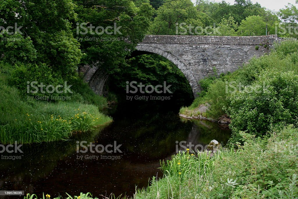 Bridge over untroubled water royalty-free stock photo