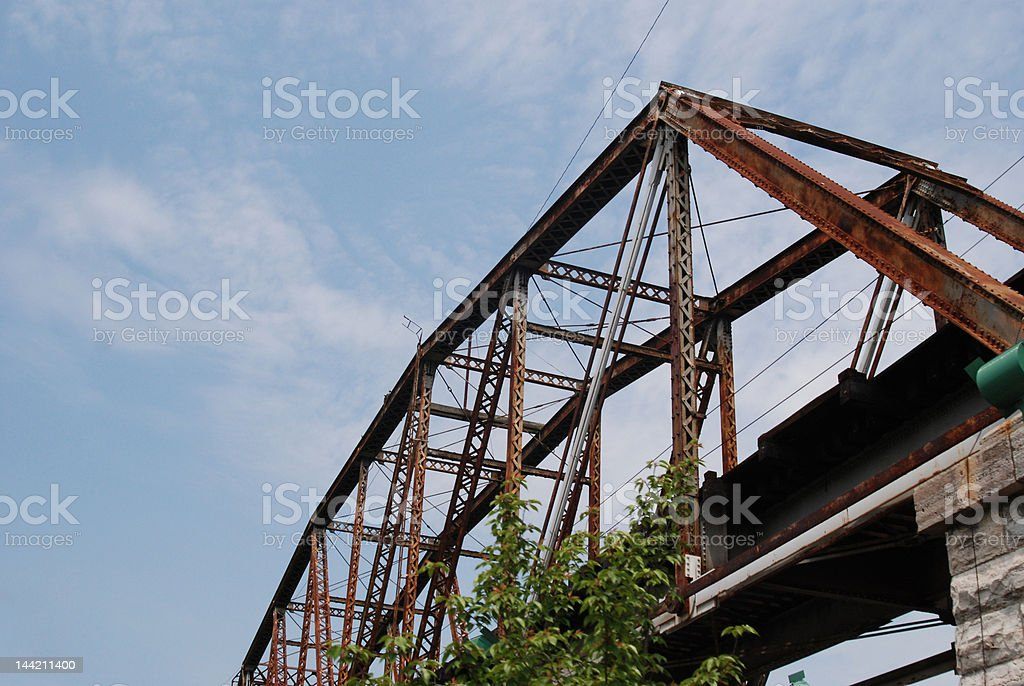 Bridge over Untroubled Water stock photo
