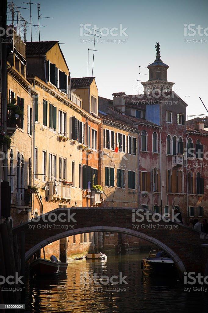 Bridge over Venetian Canal royalty-free stock photo