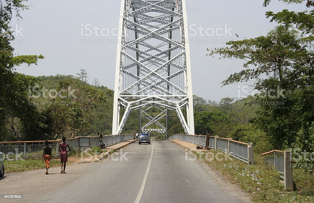 bridge over volta stock photo