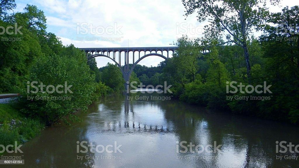 Bridge over Waters stock photo