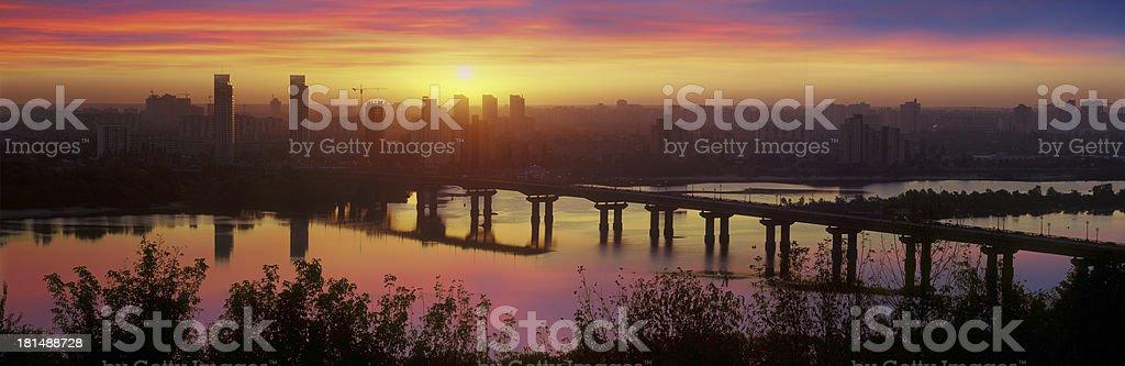 bridge Paton at dawn royalty-free stock photo