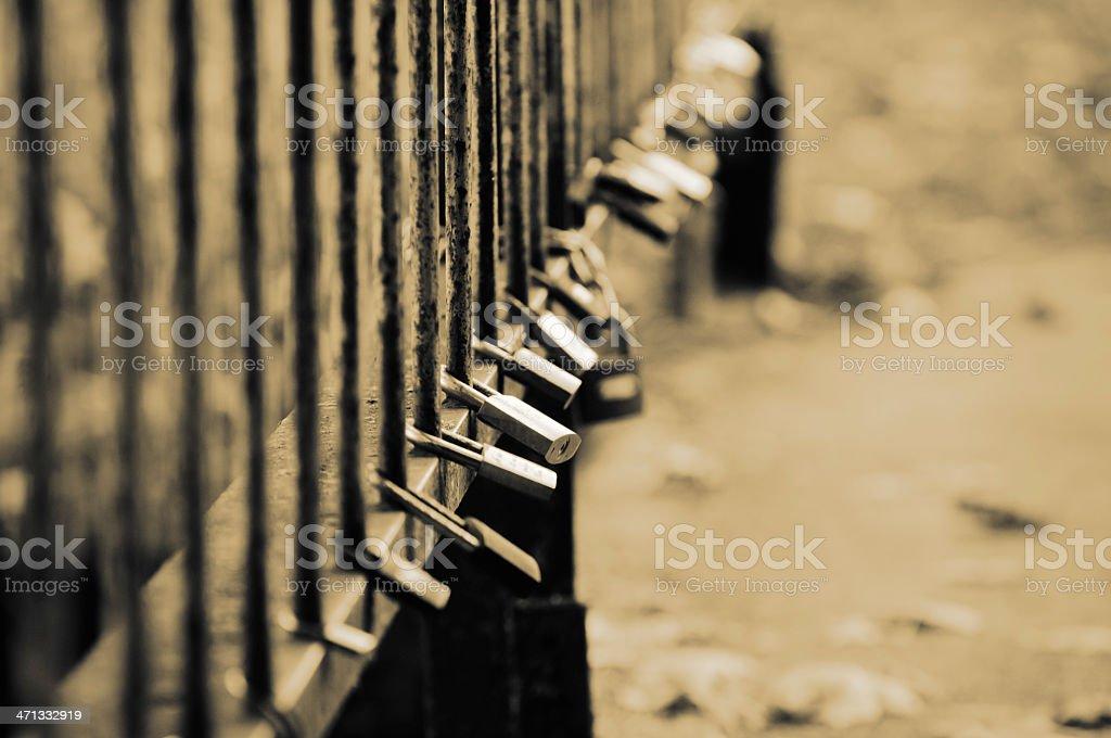 Bridge railing royalty-free stock photo