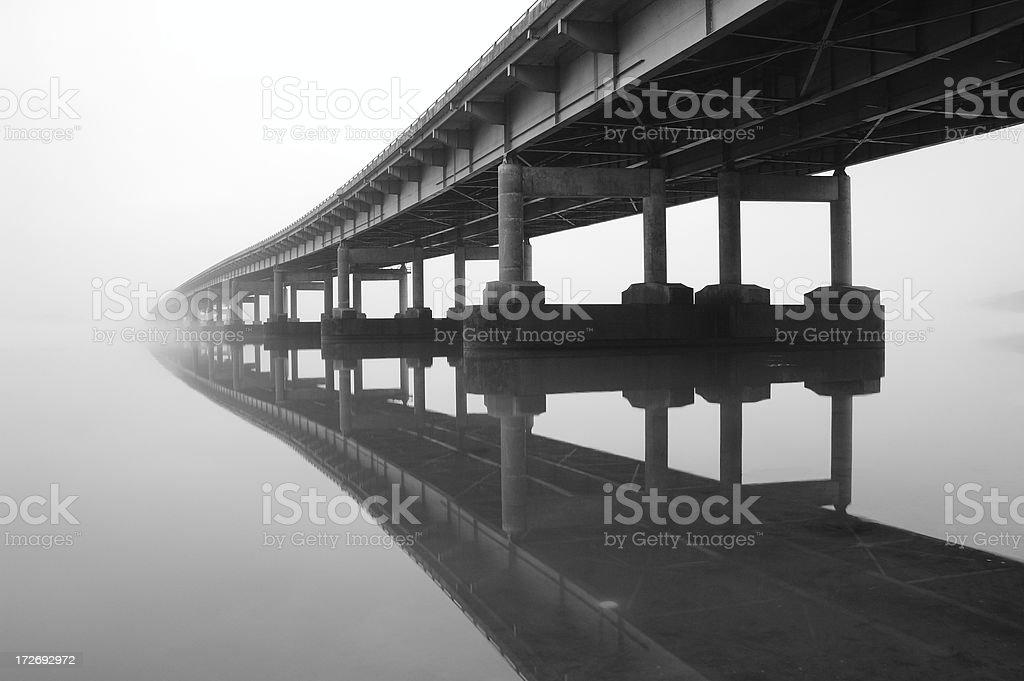 Bridge Reflection 1 stock photo
