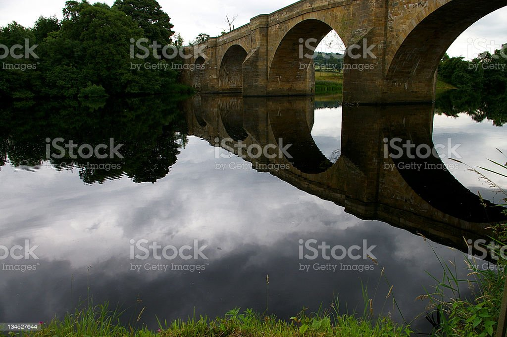 Bridge reflection royalty-free stock photo