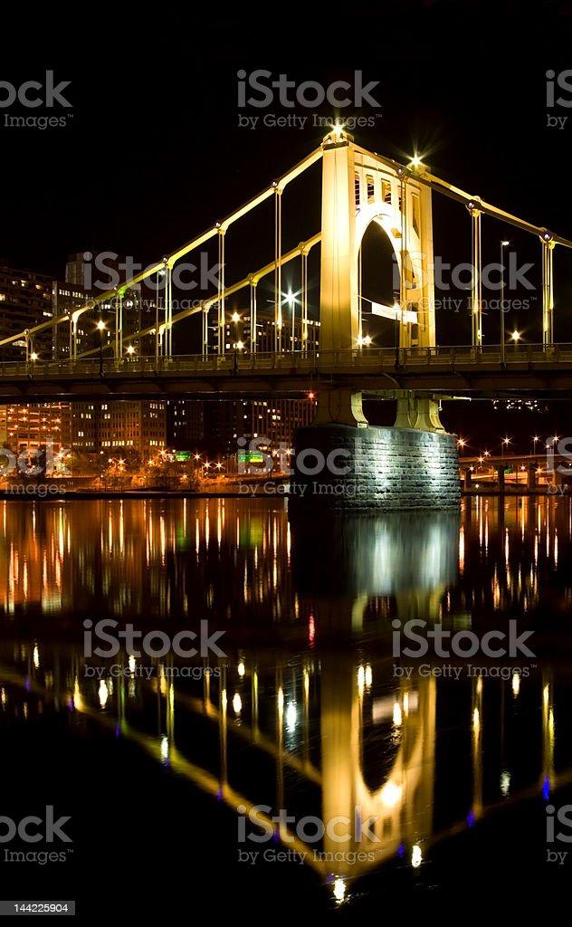 Bridge Reflection royalty-free stock photo
