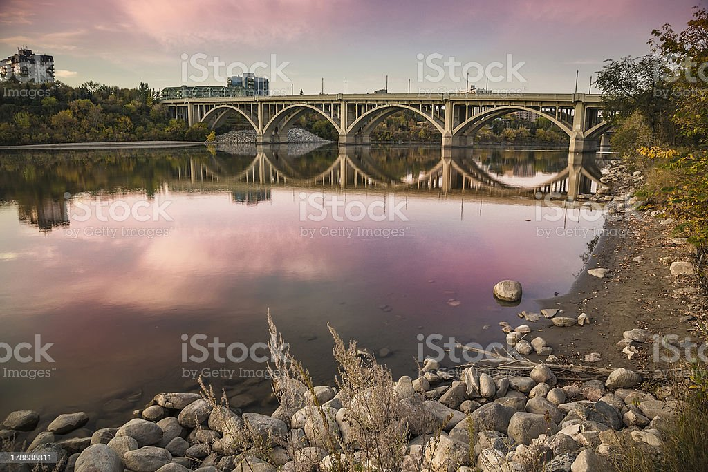 Bridge Reflection stock photo