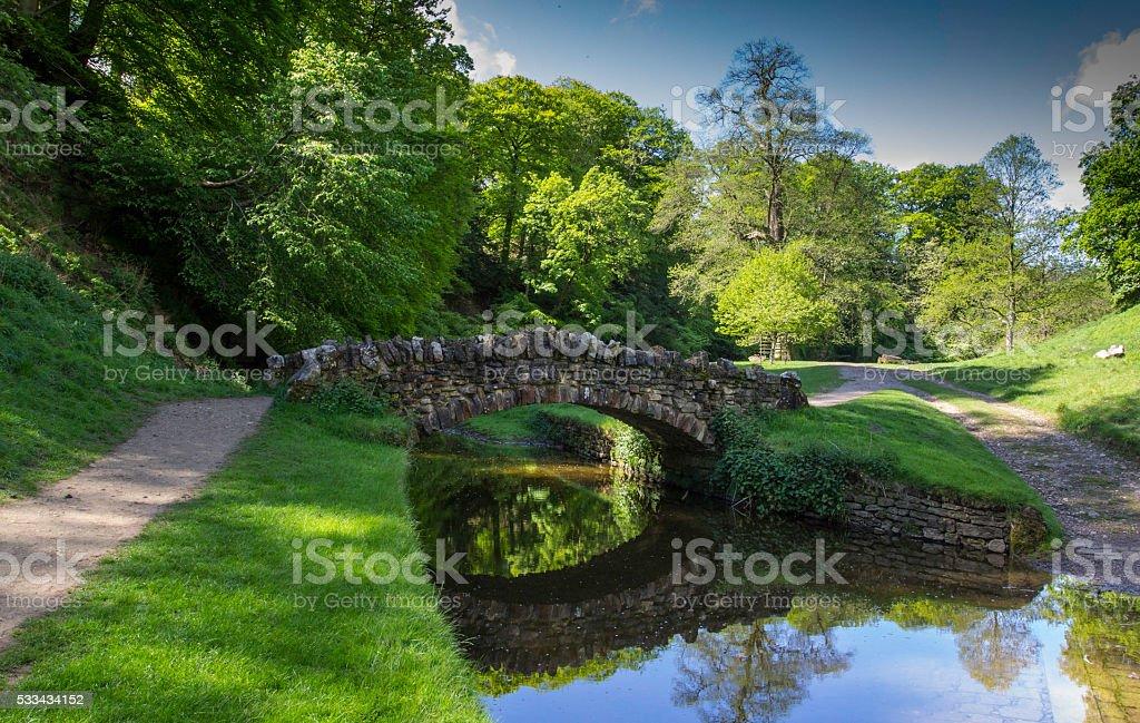 Bridge & Reflections stock photo
