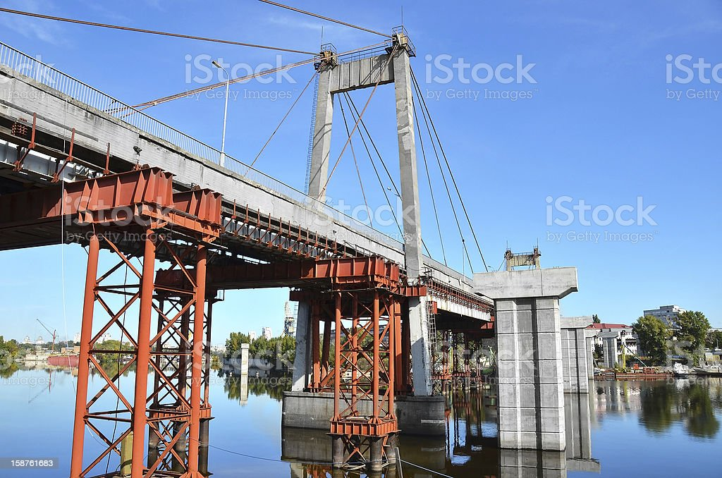 Bridge repair and construction site royalty-free stock photo