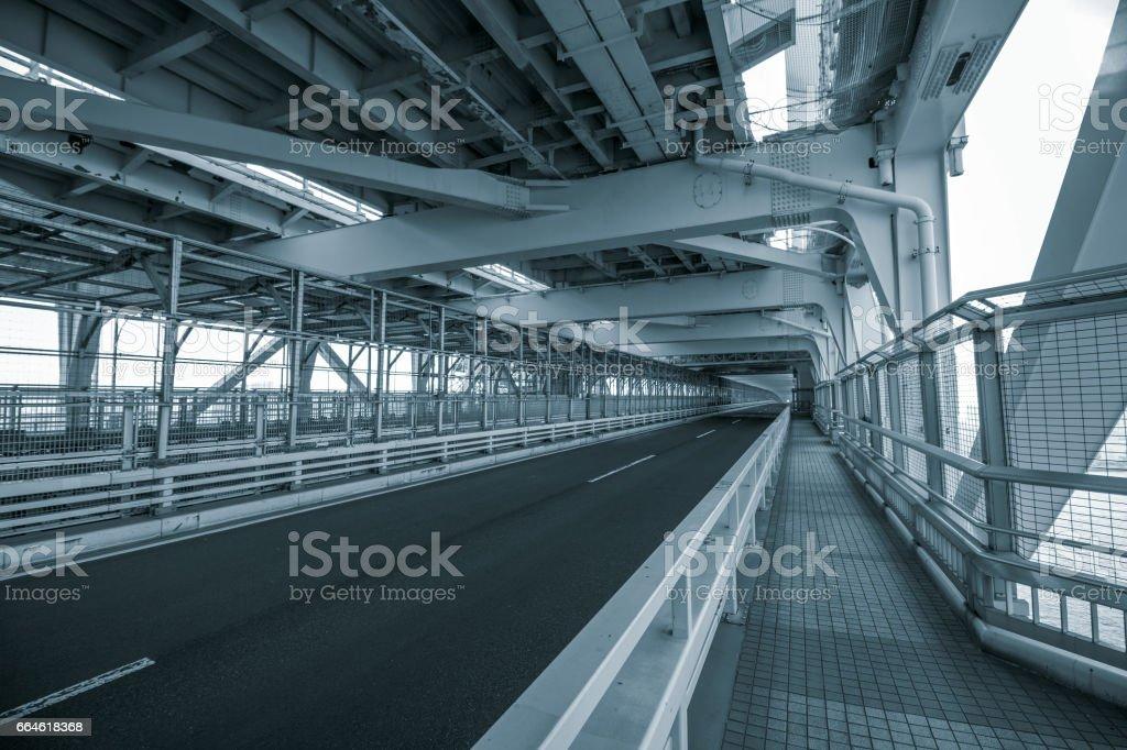 bridge road stock photo
