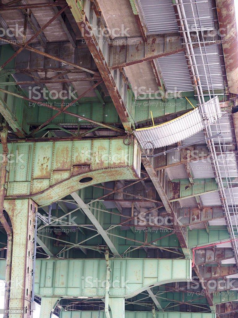 Pont la route de Ci-dessous photo libre de droits