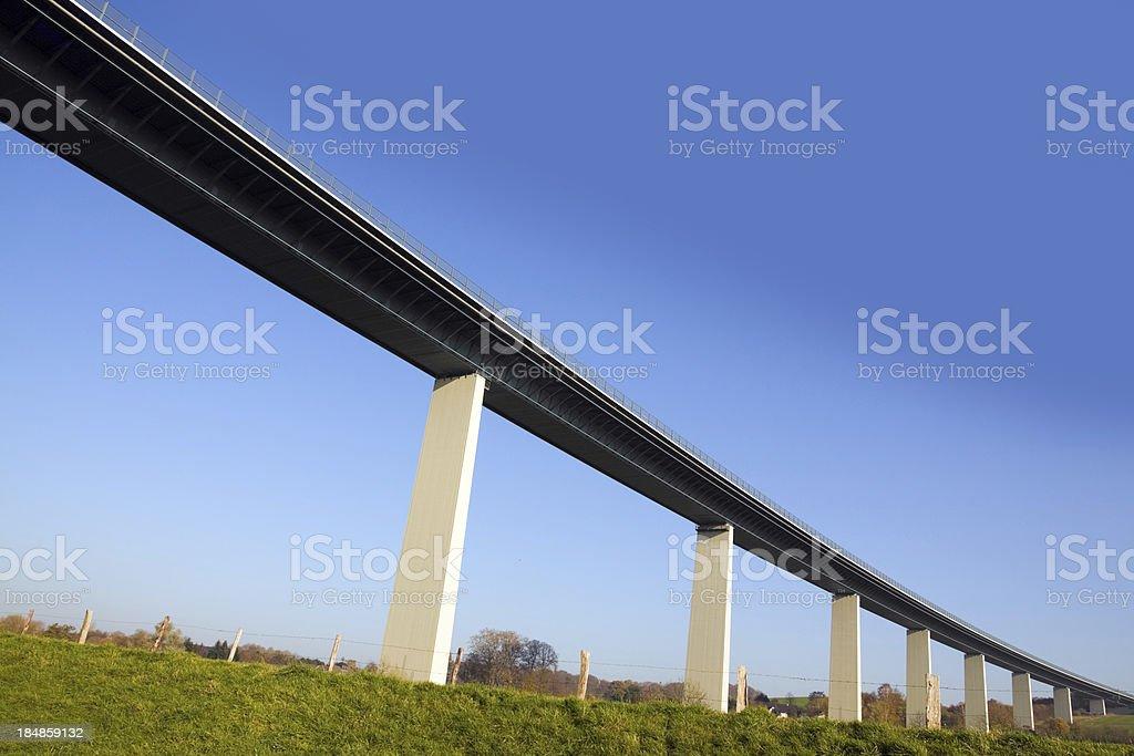 Bridge Ruhrtalbr?cke in valley of river Ruhr stock photo