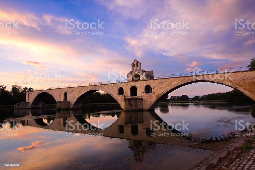 Bridge Saint-Benezet stock photo