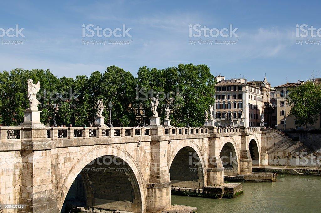 Bridge Sant'Angelo Rome Italy stock photo