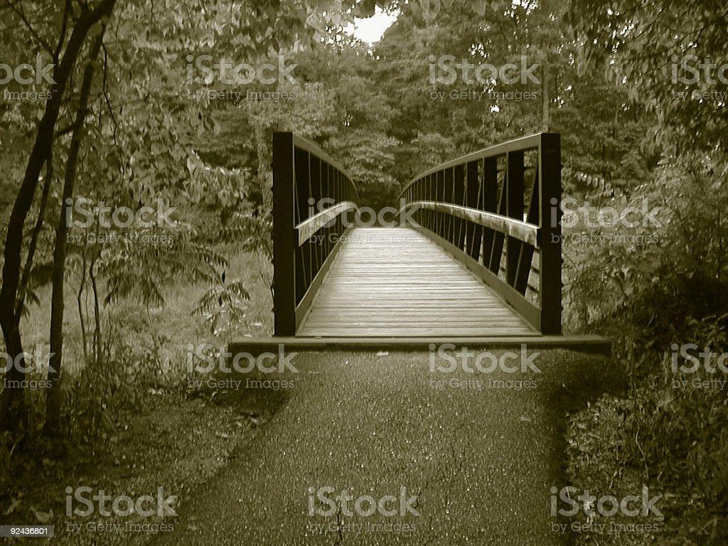 Bridge - sepia royalty-free stock photo