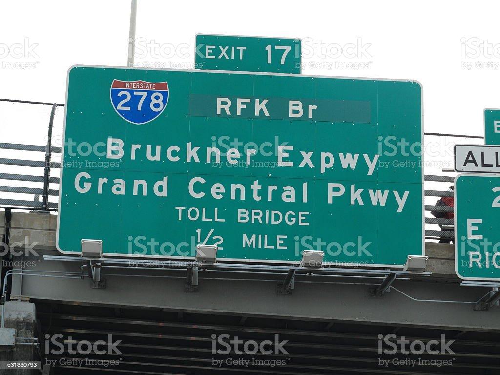 RFK Bridge Sign stock photo