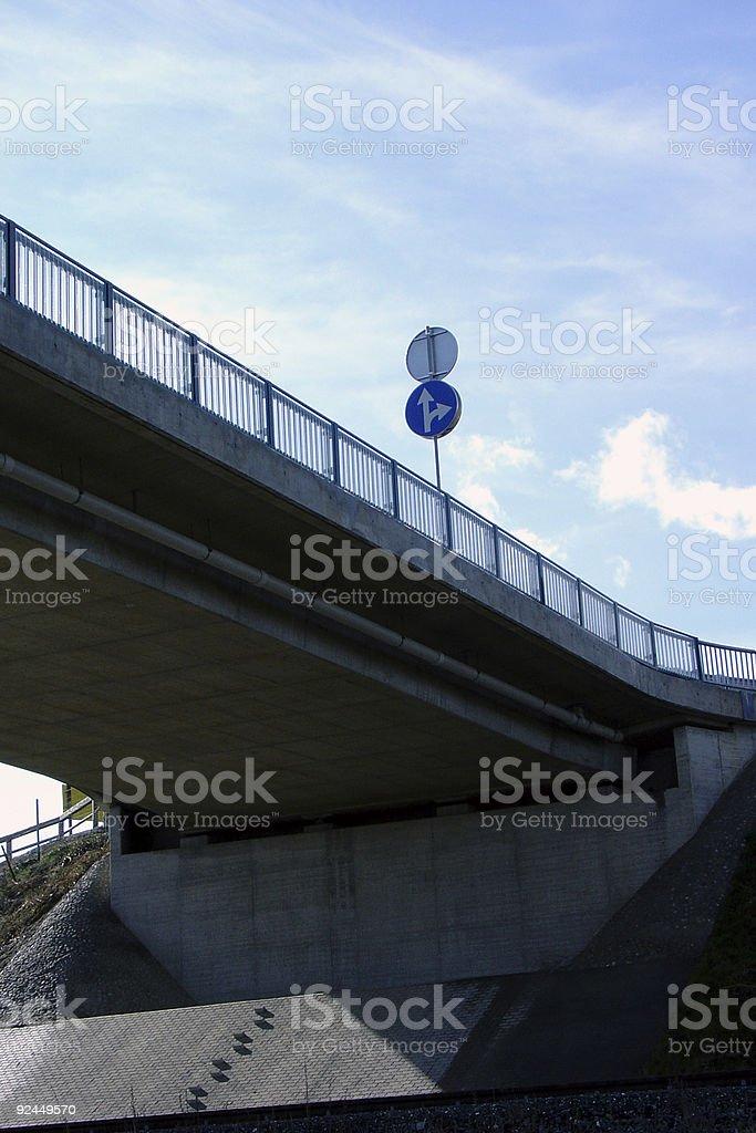 Bridge Sign royalty-free stock photo