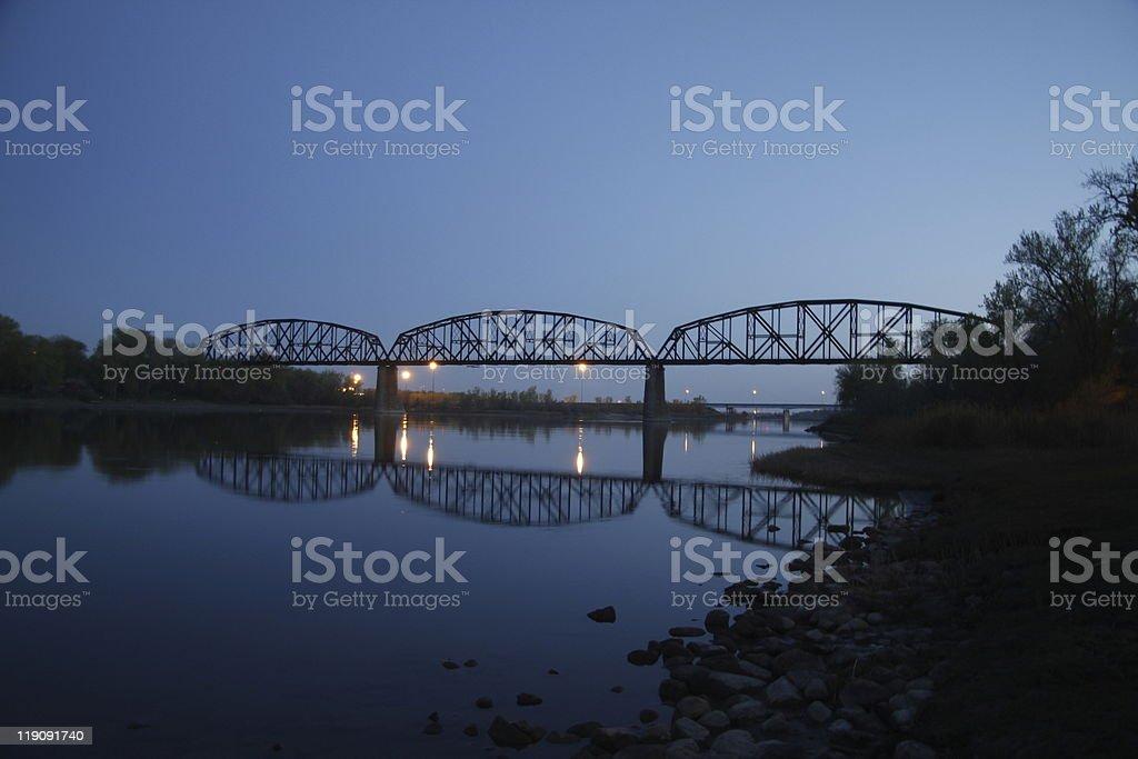 Bridge Silloette stock photo