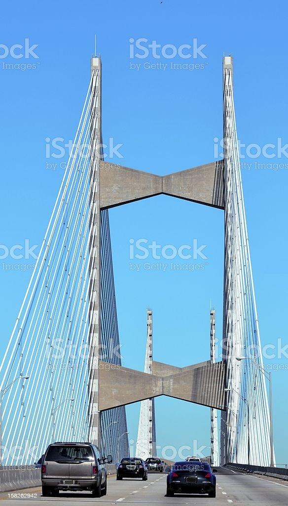 Bridge Span Jacksonville Florida. royalty-free stock photo