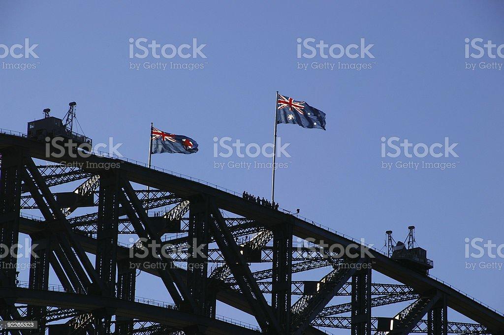 Bridge span walkers royalty-free stock photo