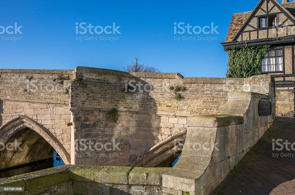 Bridge, St. Ives, Cambridgeshire, England. stock photo