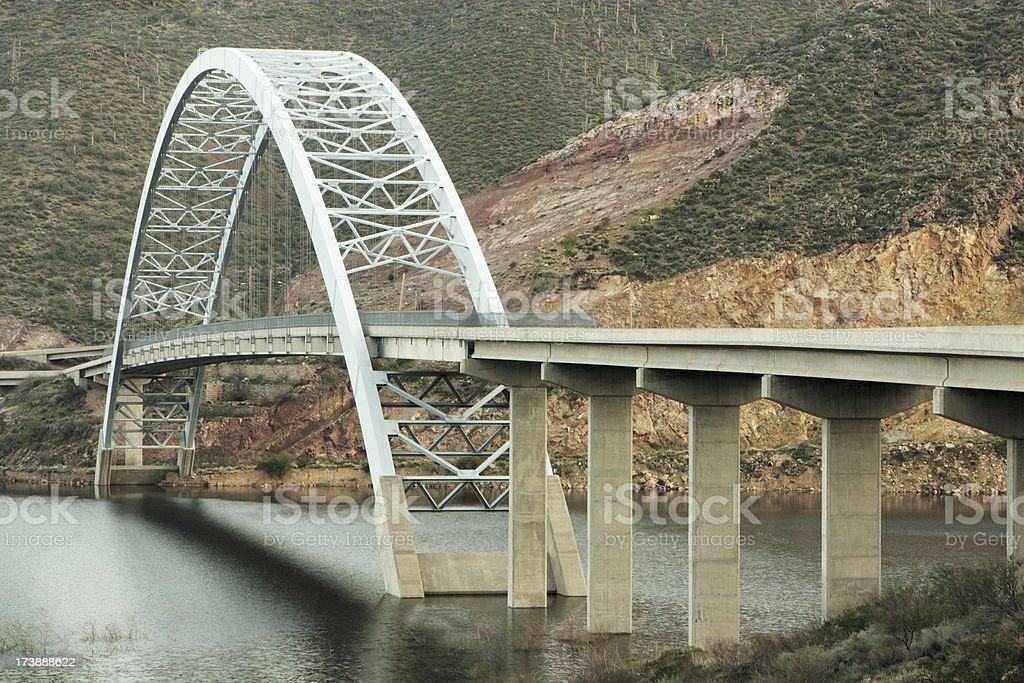 Bridge Steel Arch Scenic Highway royalty-free stock photo